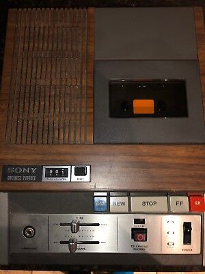 Vintage Sony Secutive Transcriber Bm-25a With Rare Hand Foot Control Units