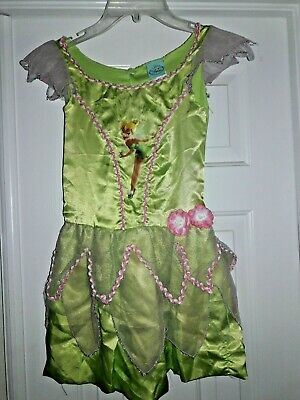 Girl's M Disney TINKERBELL Dress Up Costume Fairies New 7-8 Halloween Fairy