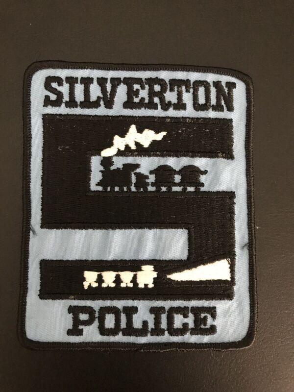 Silverton Colorado Police Patch Train Nice Artwork Rare Vintage