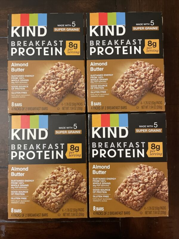 Kind Breakfast Protein Bars Almond Butter 4 Pack Exp 9/21