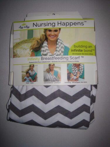 Itzy Ritzy  Breastfeeding Scarf Cotton / Poly Blend Platinum Stripe