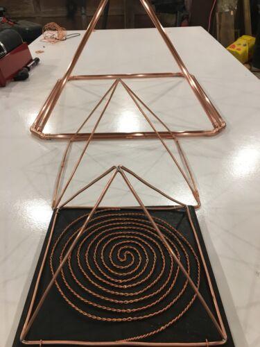 "10""  Copper Pyramid, Healing,Reiki,crystal charging"