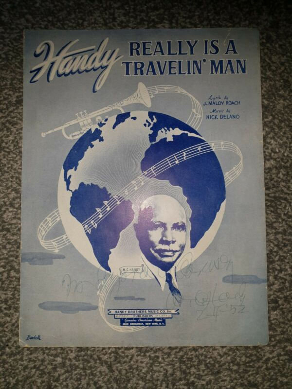 W C HANDY Signed Sheet Muisc And Copy Of THE HANDY NEWS
