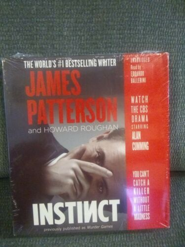 New Audiobook Instinct ( Murder Games ) by James Patterson Unabridged CDs Sealed