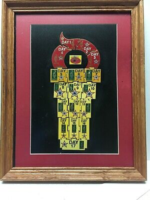 VERY LTD EDITION 1996 ATLANTA OLYMPICS  COCA-COLA 17 PIN OF THE DAY SET-FRAMED