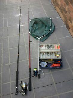 Fishing  rods  tackle  landing  net Parkwood Gold Coast City Preview