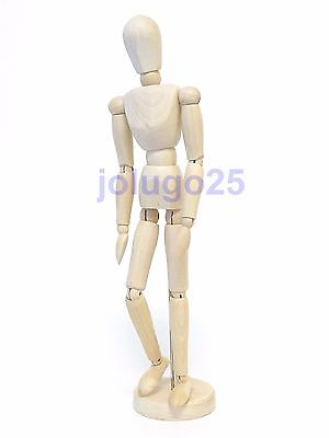 "Wood Human Drawing Model Artist Body Figure 8"" Manikin Mannequin Poses K74"