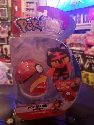 Pokemon Pop Action Poke Ball Litten & Poke Ball Throw Poke Ball Plush