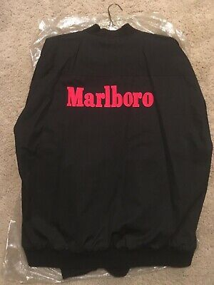 Vintage 90s Marlboro Black & Red Reversible Zip Jacket