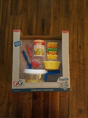 Fisher Price Fun with Food Simmering Saucepan Alphabet Soup Can New 2016 Toy set