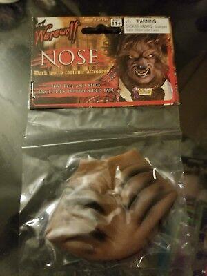 Wolf Nose Costume (Wolf Werewolf Nose Wild Animal Mini Mask Wolfman Beast Costume)