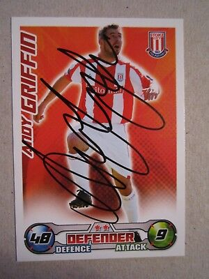 hand signed - Andy Griffin of Stoke City on a 2008/9 Match Attax card