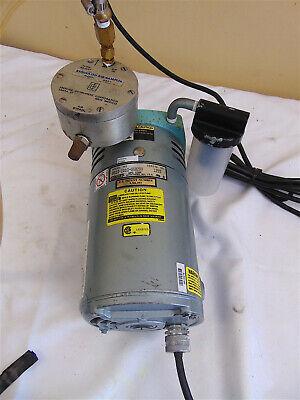 Gast Vacuum Pump 0523-1010-g582dx With Eberline Regulated Air Sampler Ras1 Sr561