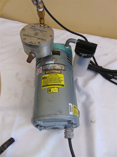 Gast Vacuum Pump 0523-1010-G582DX With Eberline Regulated Air Sampler Ras1 SR561