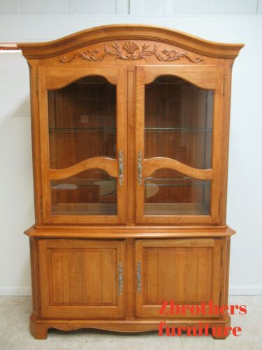 Ethan Allen Legacy French Country Server China Cabinet Breakfront Hutch Display
