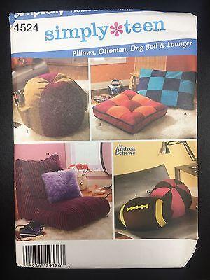 Simplicity #4524 Pillows, Ottoman, Dog Bed, & Lounger