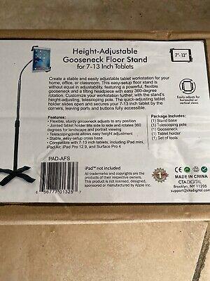 CTA Digital PAD AFS Height Adjustable Gooseneck Floor Stand for 7-13 Tablets