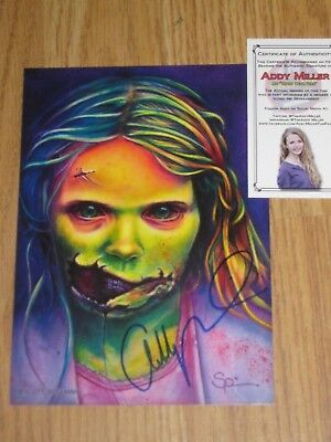 Addy Miller Autographed Print. The Walking Dead. Little Girl Zombie - The Walking Dead Little Girl Zombie