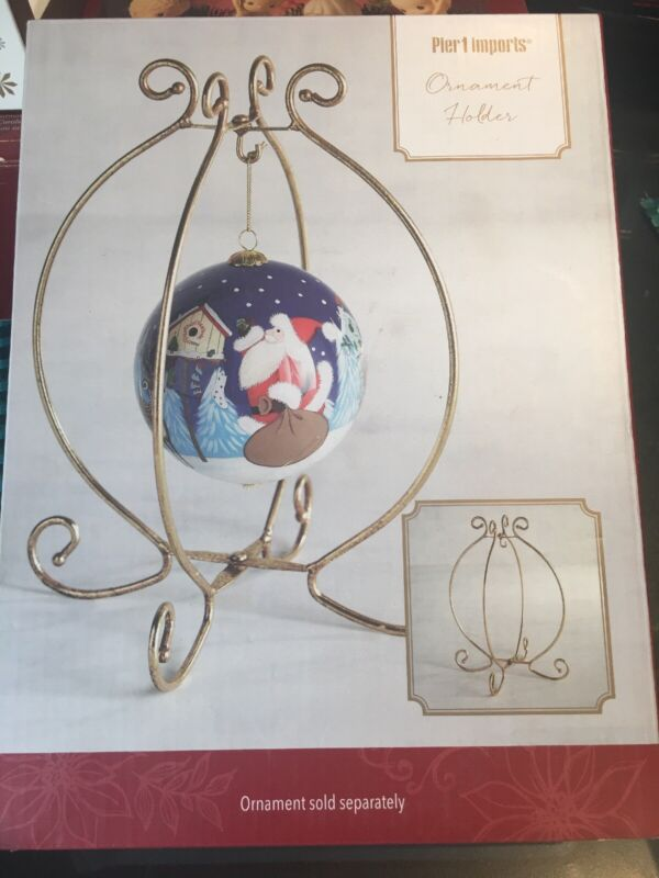 Pier One Ornament Holder With Nativity Ornament.