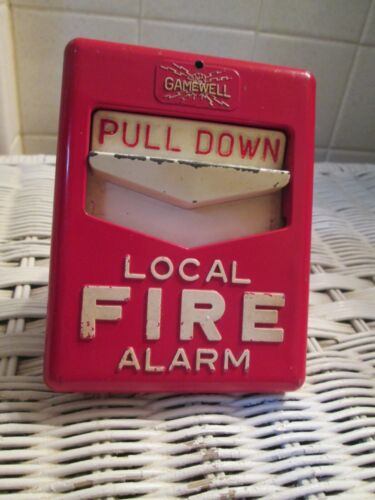 Vintage Gamewell Fire Alarm Pull Handle