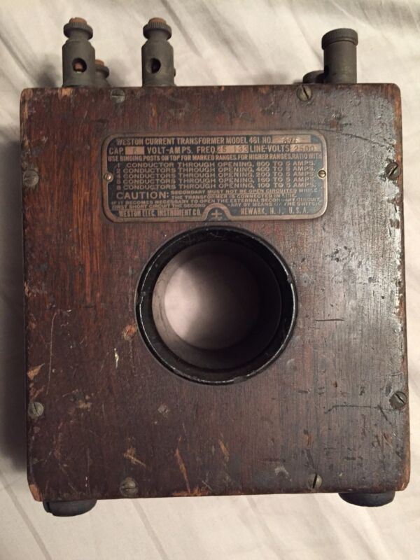 Weston Electrical Instrument Co. Current Transformer Model 461 No.676