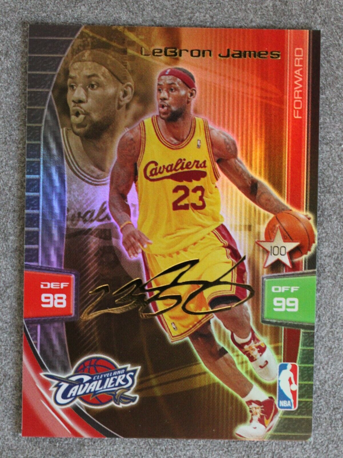 Lebron james 2009-10 nba adrenalyn extra signature cleveland cavaliers