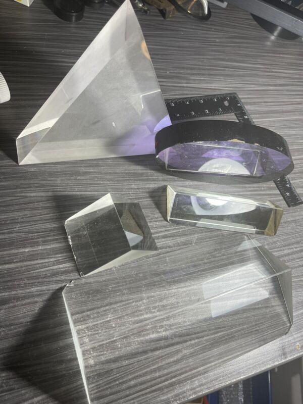 LOT OF LAB LASER Large OPTICS PRISMS Purple Oval