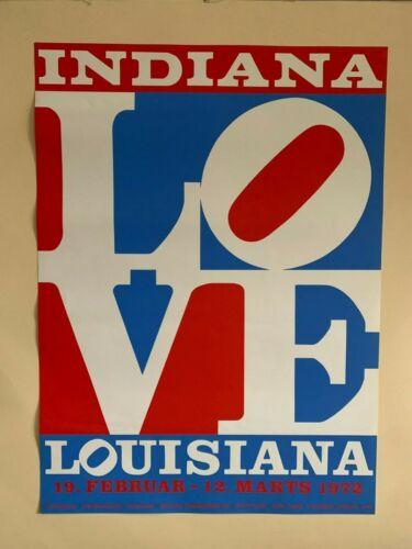 Robert Indiana Love Louisiana Original 1972 Screen Print