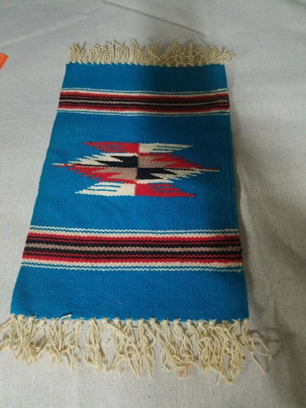 Handcrafted Southwestern Chimayo Weaving Textile Placemat New Mexico