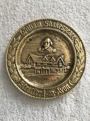 William Shakespeare Brass Plate 5 1/4 Diameter Size Lovely Piece