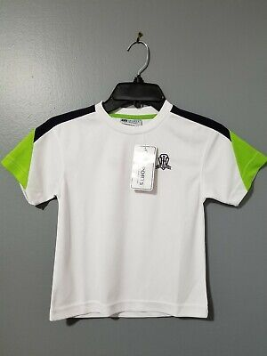 TV Sports Boys Soccer Jersey T-Shirt Green/White/Black Size XS New
