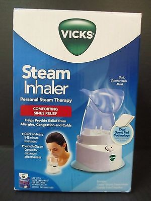 NEW VICKS STEAM INHALER PERSONAL STEAM THERAPY -V1200-6-VV1 SINUS RELIEF RC 934