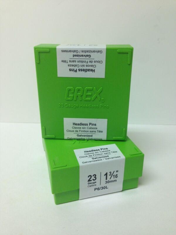 "Grex 23 Gauge Headless Micro Pins P6/30L 1-3/16"" Inch 10,000 Per Box"