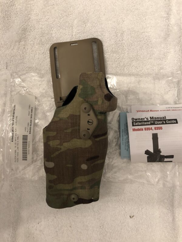 Safariland ALS Red Dot Low Ride Holster Glock 19, 23 W/ Light Multicam Right
