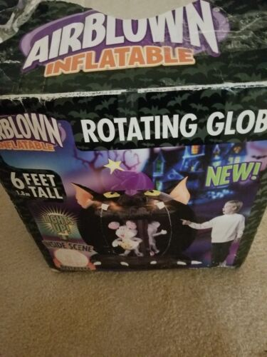 Halloween Airblown Inflatable GEMMY ROTATING GLOBE 6FT Mouse Cheese - $59.99