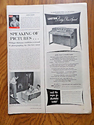 1951 LESTER Betsy Ross Spinet Piano Ad