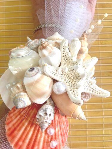 Mermaid Tropical Real Seashells Corsage One-Of-A-Kind