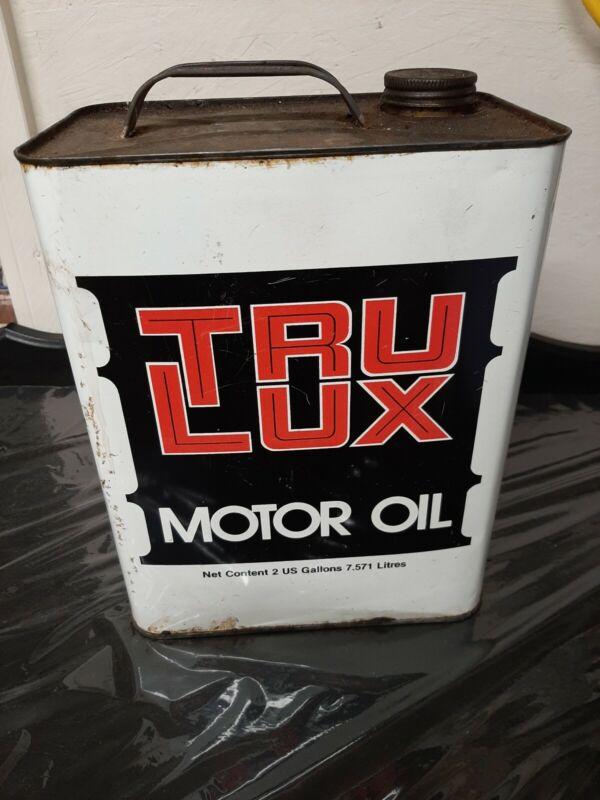 Vintage Tru Lux 2 Gallon Motor Oil Can