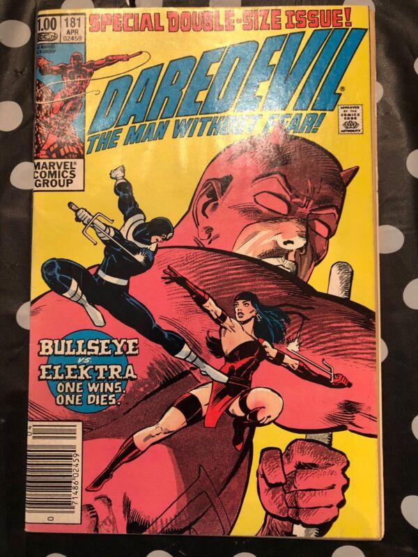 Daredevil #181 Death of Elektra