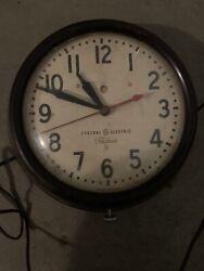 Vintage General Electric Telechron Schoolhouse Retro Clock (WORKING)