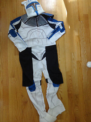 BOYS STAR WARS CLONE TROOPER CPT REX COSTUME MED 8 10 HALLOWEEN 2 PC GUC STAINS](Star Wars Clone Costume)