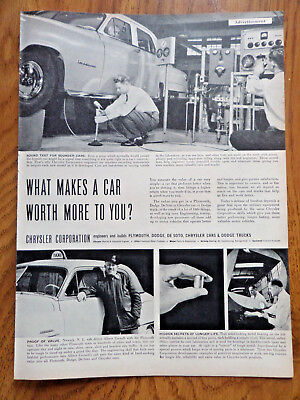 1952 Chrysler Imperial Ad What Makes a Car Worth More to You?