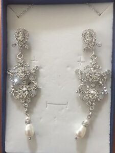 Silver coloured Necklace with matching Earrings