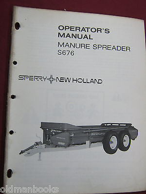 New Holland S676 Manure Spreader Operators Manual  Nh