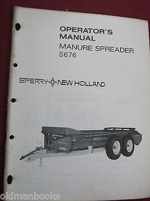 New Holland S676 Manure Spreader Operators Manual  Nh