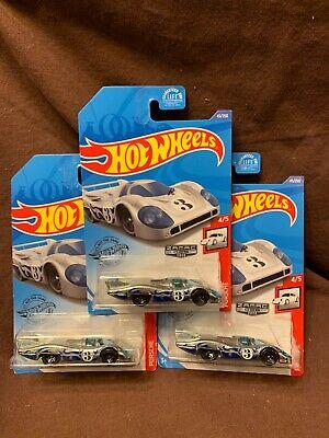 Huge Lot Of Three Hot Wheels 2020 ZAMAC 006 Porsche 917 LH Porsche Series