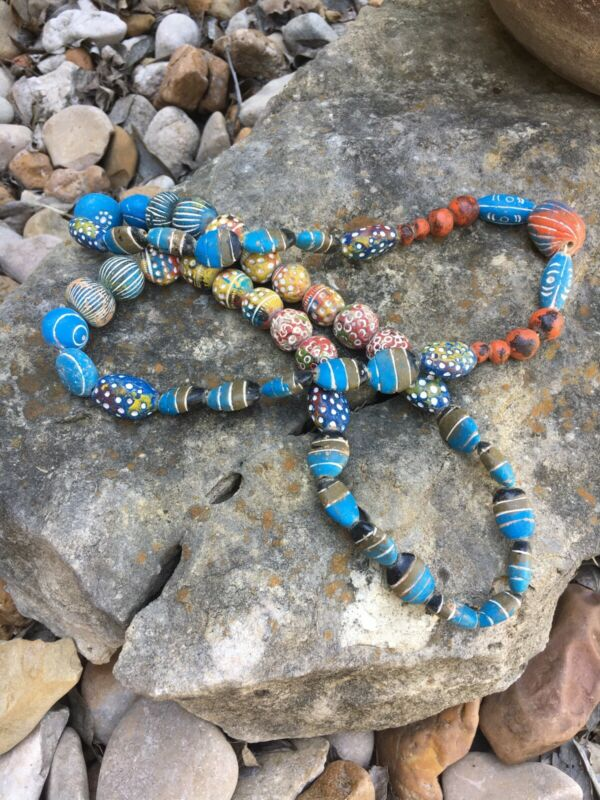 Vintage African Trade Beads|Necklace|Terra Cotta