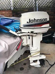 1997 25Hp Johnson Outboard Motor, Long Shaft, Tiller Steer Sans Souci Rockdale Area Preview