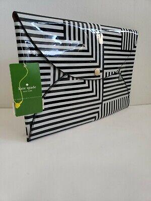 NEW Kate Spade Envelope Clutch Saturday Stripe Hand Bag Purse Slim