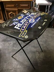 Rusty Wallace Collectible TV table